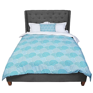 East Urban Home Nick Atkinson Ocean Swirl Comforter; Queen