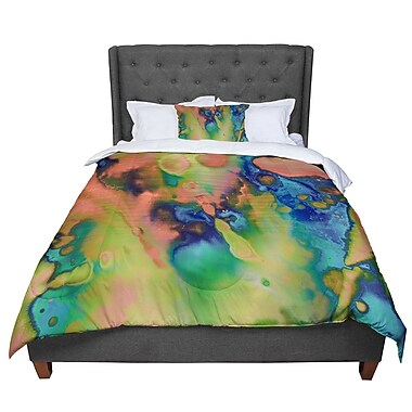 East Urban Home Nina May Acid Splash Down Comforter; Twin