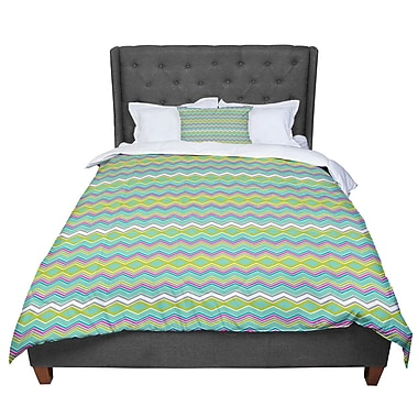 East Urban Home Nicole Ketchum Chevron Love Comforter; Queen