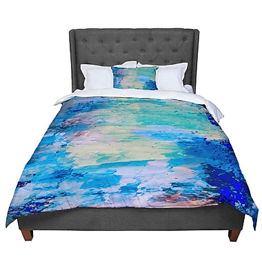 East Urban Home Nina May Mineral Surf Abstract Comforter; Twin