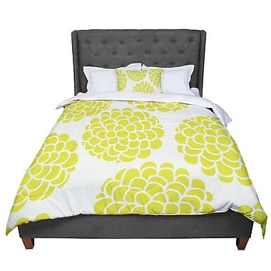 East Urban Home Pom Graphic Design Grape Blossoms Circles Comforter; King