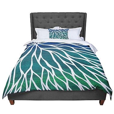East Urban Home Designs Ocean Flower Comforter; Queen