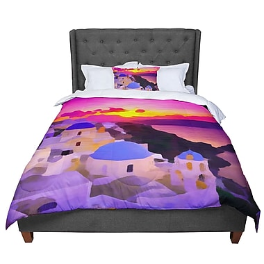 East Urban Home Oriana Cordero My Konos Sunset Comforter; Queen