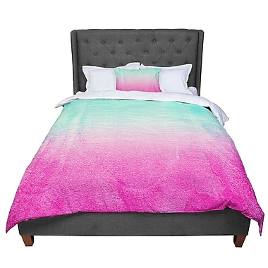 East Urban Home Monika Strigel Sunny Melon Magenta Comforter; Queen