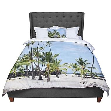 East Urban Home Nastasia Cook Paradisiac Coastal Nature Comforter; Queen