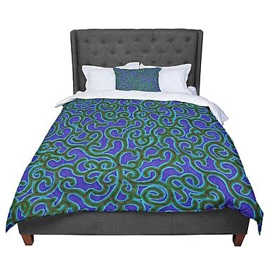 East Urban Home Designs Swirling Vines Comforter; King