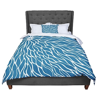 East Urban Home Designs Swirls Comforter; King
