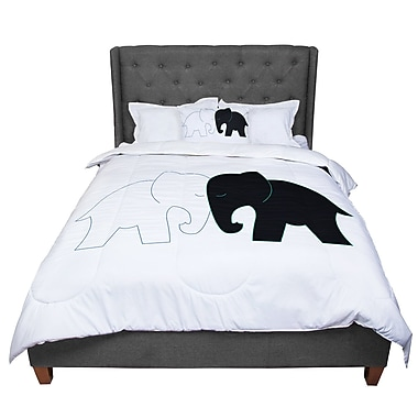 East Urban Home Designs and Elephant Love Comforter; King