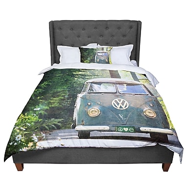 East Urban Home Robin Dickinson Peace Love Forest Comforter; Queen