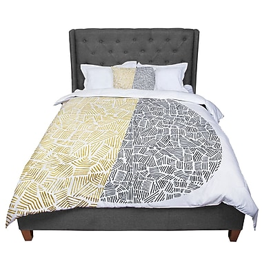 East Urban Home Pom Graphic Design Inca Day and Night Comforter; King