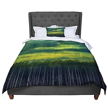 East Urban Home Robin Dickinson I Like This Place Comforter; Queen