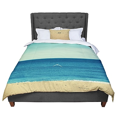 East Urban Home Robin Dickinson Escape Beach Sand Comforter; Queen