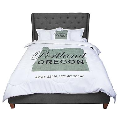 East Urban Home Juan Paolo Portland Coordinates Comforter; Queen