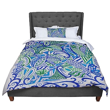 East Urban Home Rosie Zentangle Comforter; King