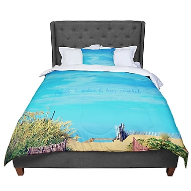 East Urban Home Robin Dickinson Simplify Beach Comforter; Twin