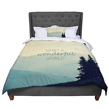 East Urban Home Robin Dickinson What a Wonderful World Comforter; Queen