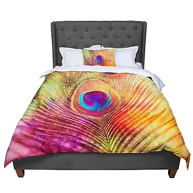 East Urban Home Sylvia Cook Peacock Feather Comforter; Twin