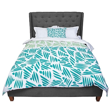East Urban Home Pom Graphic Design Bamboo Comforter; King