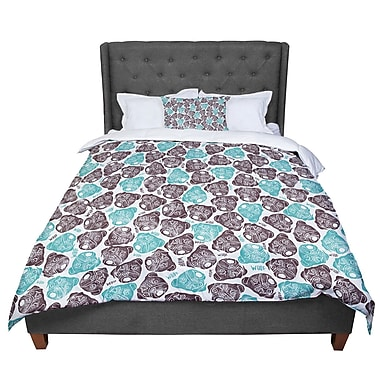 East Urban Home Pom Graphic Design The Barking Pug Comforter; King