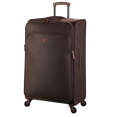 JUMP – Ensemble de 2 valises extensibles à 4 roulettes Uppsala à revêtement en polyester, chocolat (4451/4452)