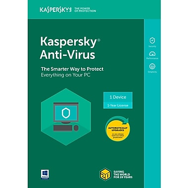 Kaspersky – Logiciel Anti-Virus 2018 (3 utilisateurs, 1 an)