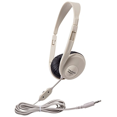 Califone Caf3060av Translucent Multimedia Stereo On-ear Headphone, Silver