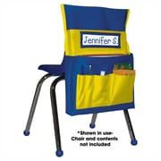 Carson Dellosa® Chairback Buddy Storage Pocket Chart, Blue/Yellow