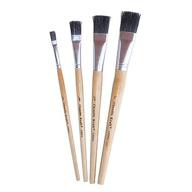Chenille Craft Tempera Brush Set, Black Bristle, 24/Pack (CK-5182)