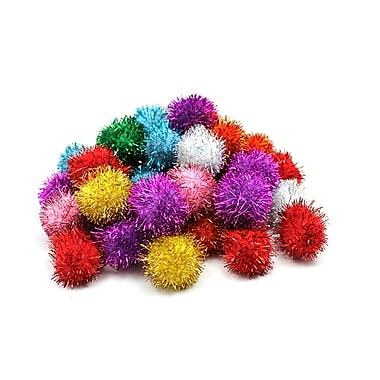 Chenille Craft Glitter Poms, Assorted, 240/Pack (CK-811501)