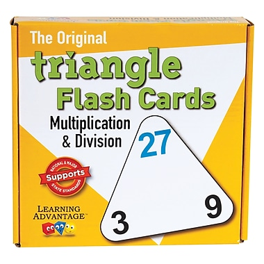 Wca The Original Triangle Flash Cards, Muntiplication & Division, 60/Pack (CRE4552)
