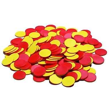 Didax Plastic Two-Color Counters, 200/Pack