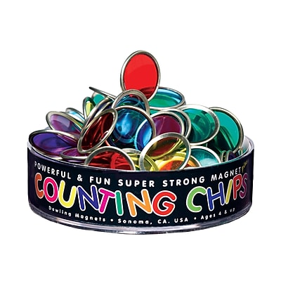 Dowling Magnets Activities, 75 Counting Chips With Block Magnet