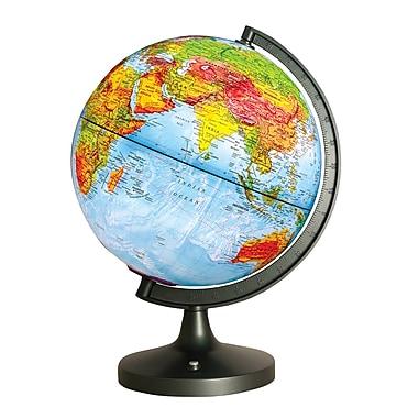 Elenco Electronics - Globe illuminé à DEL, double cartographie, 11 po