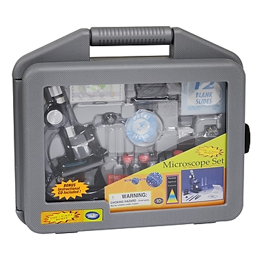 Elenco Electronics® Discovery Planet Microscope Set With Carrying Case, 50x, Grades 8 - 12