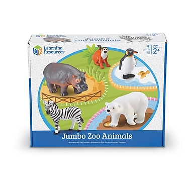Learning ResourcesMD – Ensemble géant d'animaux du zoo