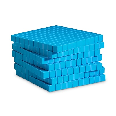 Base Ten & Place Value, Learning Resources® Plastic Base Ten Components 10 Blue Flats
