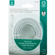 Jasco 25' Line Cord, White