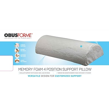 Obusforme PL-4PS-MFA Memory Foam 4 Position Pillow White