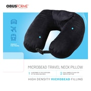 Obusforme PLMTPBK Microbead Travel Pillow, Black