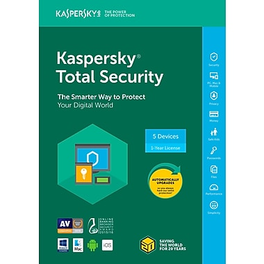 Kaspersky Total Security 2018, 5-User, 1-Year