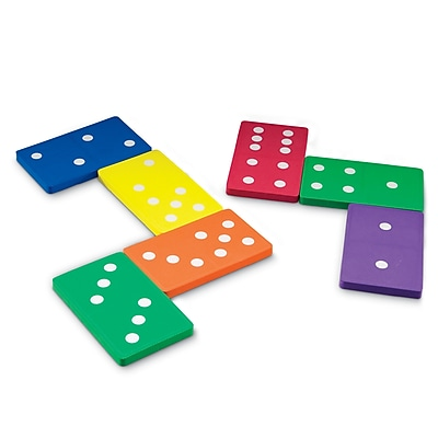Learning Resources Math Learning Game, Jumbo Foam Dominoes 876929