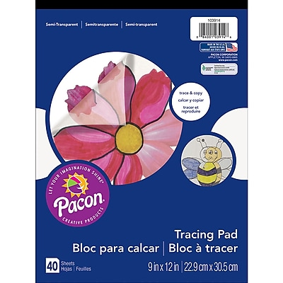 Pacon® Art Street® Translucent Tracing Paper Pad, 12