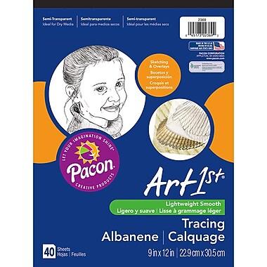 Pacon - Bloc à calquer Art1st de 9 x 12 po, transparent, 40 feuilles, 6/paquet (PAC2369)