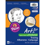 """Pacon Art1st 9"""" x 12"""" Tracing Pad, Transparent, 40 Sheets, 6/Pack (PAC2369)"""