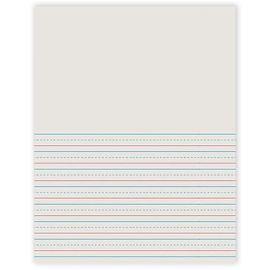 Pacon 2695 Storybook Ruling Paper, White, 8 1/2