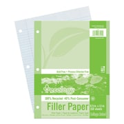 """Pacon® College Ruled Ecology Filler Paper, 11"""" x 8 1/2"""""""