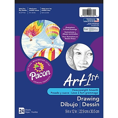 Pacon Art1st White Drawing Paper Pad, 12