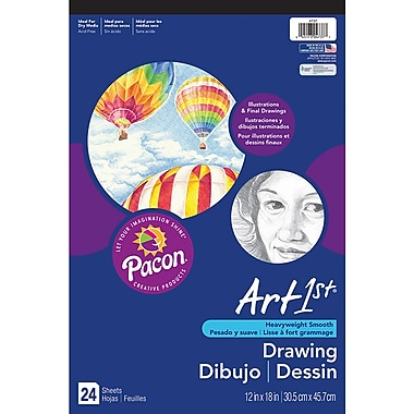 Pacon® Art1st® White Drawing Paper Pad, 18