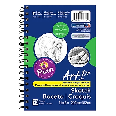 Pacon Art1st White Sketch Paper Diary, 9