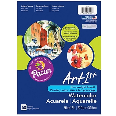 Pacon® Art1st® Watercolor Paper, White, 18